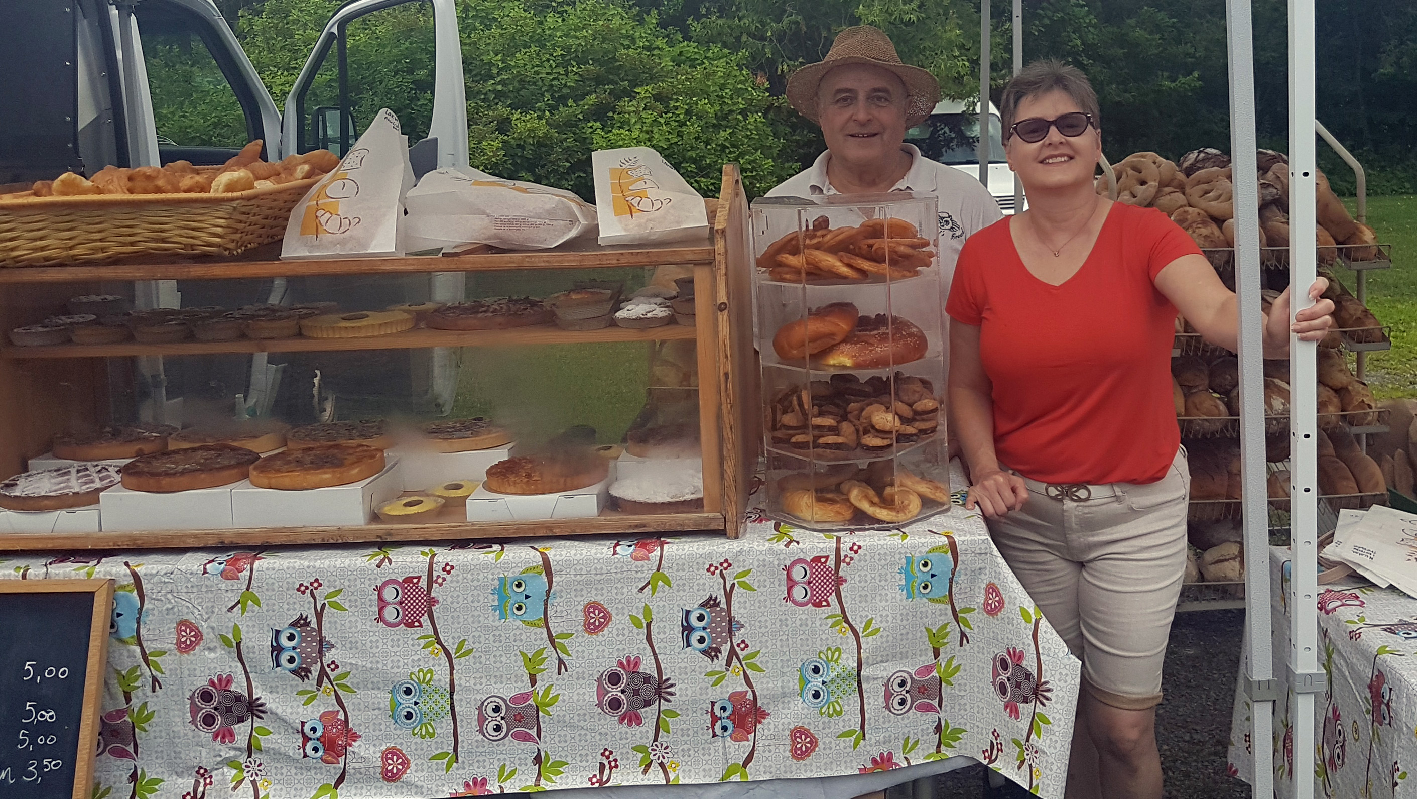 Chef Denis et Agnès at the Knowlton Farmers Market